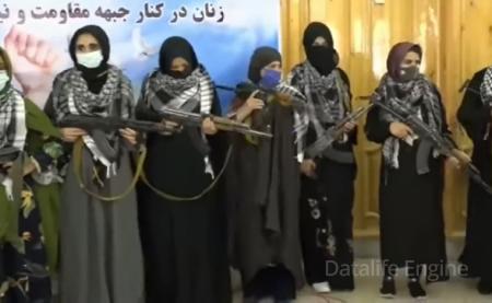 """Əfqan qadınlar """"Taliban""""la döyüşə hazırlaşır"""