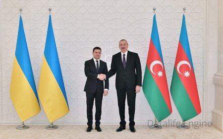 Azərbaycan Prezidenti İlham Əliyev Ukrayna Prezidenti Zelenskiyə təbrik məktubu göndərib